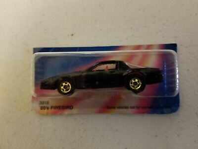 New 1986 Hot Wheels '80's Firebird #3918 New in Package Black RAINBOW CARD