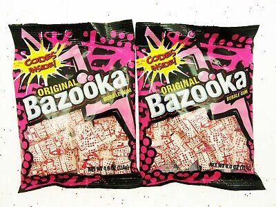 BAZOOKA Original Bubble Gum  ~ Lot of 2 ~ Bazooka Joe comic strip candy candies - Bazooka Bubble Gum