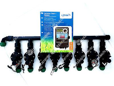 Kit Irrigation Programmer 8 Zone Lawn Garden Solenoid Valve Orbit Baccara