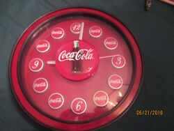 Coca cola Battery wall clock bottle caps for numbers works great