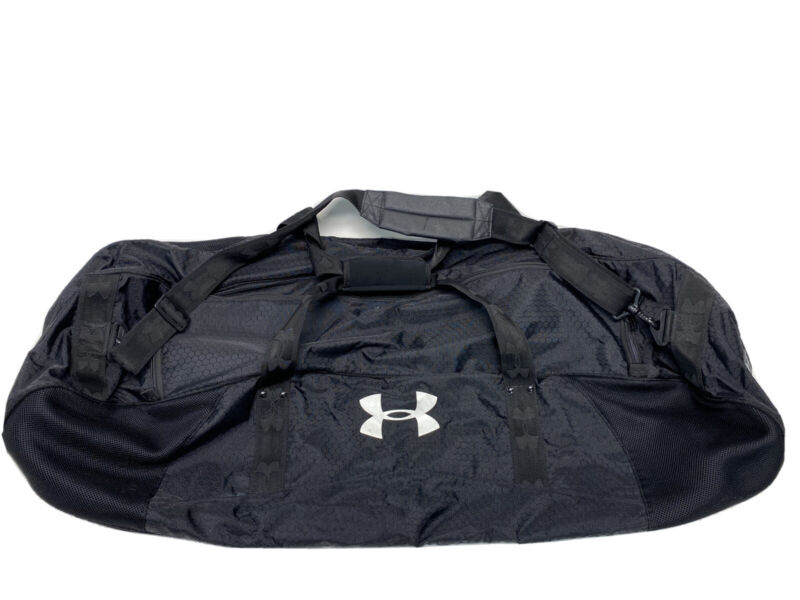 "Under Armour Black Padded 42"" Lacrosse Stick Bag Large Equipment Duffle Bag"