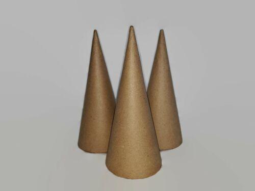 Paper Mache Cones Open Bottom 7 X 3 Inches 3 Cones Per Order