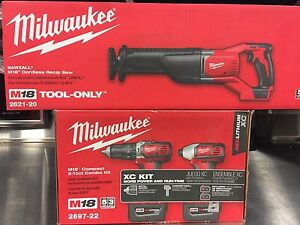 Milwaukee M18 hammer drill, impact driver, reciprocating saw