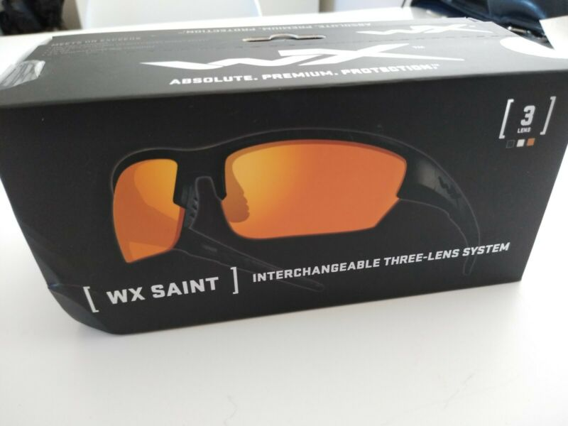 Wiley X Saint SMOKE/CLEAR/RUST 3LENS COMBO CHSAI06 ~ WX Saint  NEW