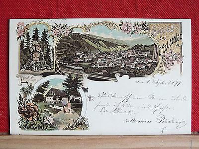 Farblitho - Gruss aus Mürzzuschlag - gel. 1897 - Steiermark - sehr schön !!   m1