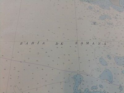 Vintage NOAA Nautical Chart Bahia de Samana Dominican Republic 2nd Ed 1981