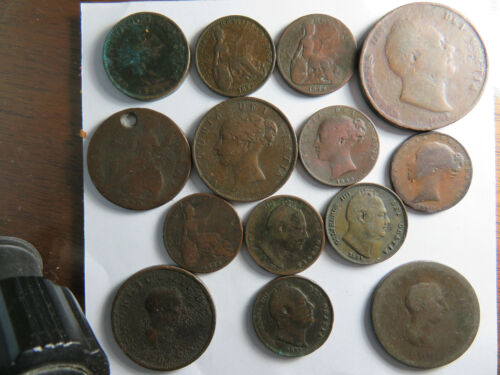 Early Great Britain Copper Coins