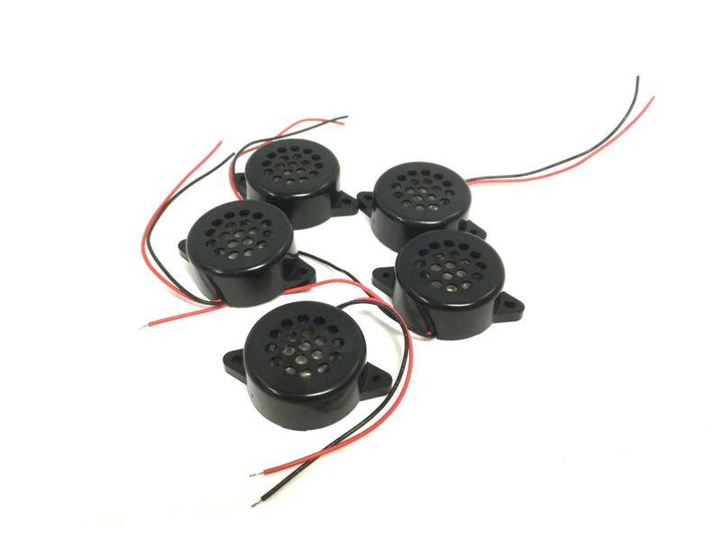 Lot of 5 New Mallory PB-2712W Sonalert Alarm, Voltage: 2-5VDC, 5W 1250 +/-200 Hz