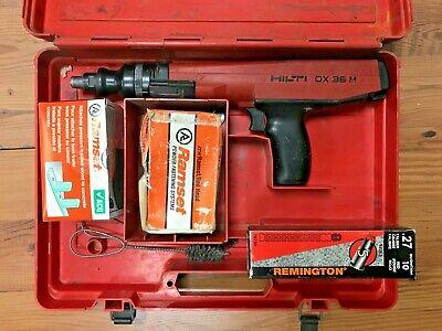 Hilti Dx36m Powder Actuator Nail Stud Gun With Case