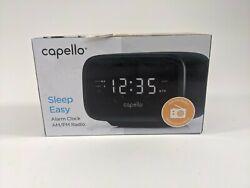 Capello Digital AM & FM Alarm Clock Radio - Black (CR15)