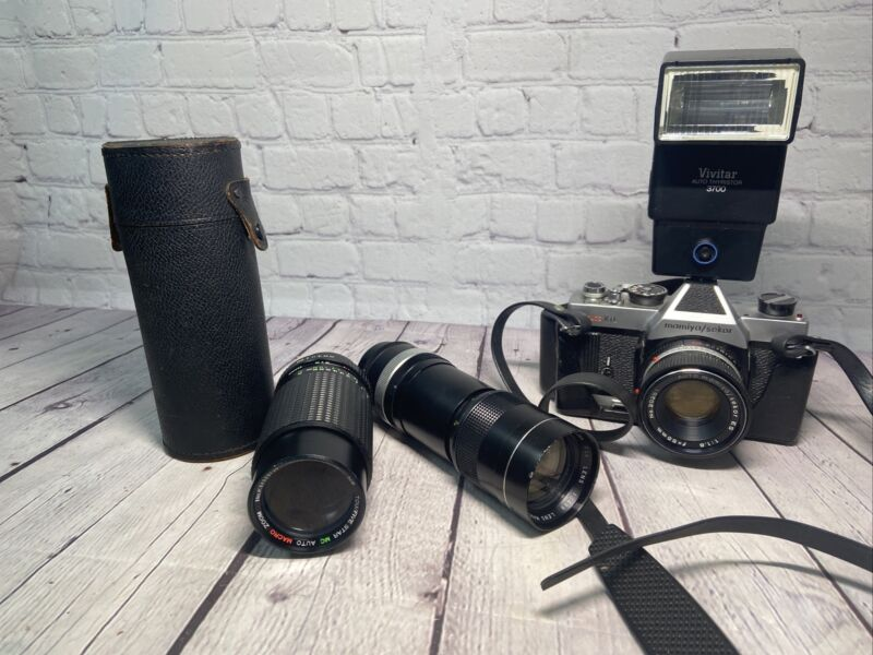 RARE MAMIYA-SEKOR AUTO XTL BODY -35mm SLR CAMERA With Extra Lens Lot A14