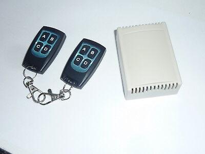 4 Channel DC 12V AC 240V RF Wireless Remote Control Relay + 2 key fobs