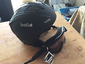 Small youth ski helmet with googles