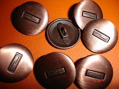 5 Knöpfe kupferfarben dunkelkupfer Einleger 20mm, Annähöse W35.14