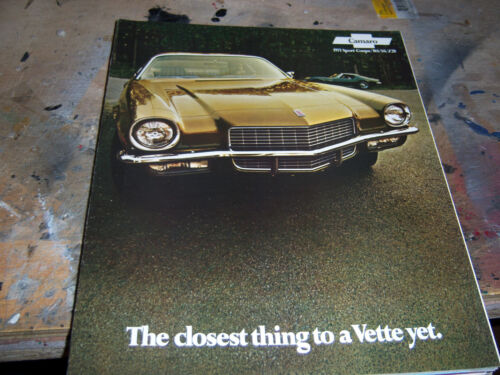 1971 Chevrolet Camaro dealer brochure