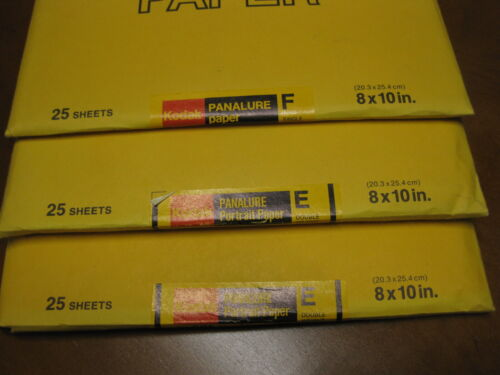 Kodak Panalure F SW and Panalure Portrait E DW Paper 75 sheets of 8 x 10 Lot