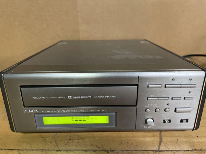 Denon D-200 Mini Stereo Cassette Player Tape Deck UDR-200 This Unit Only