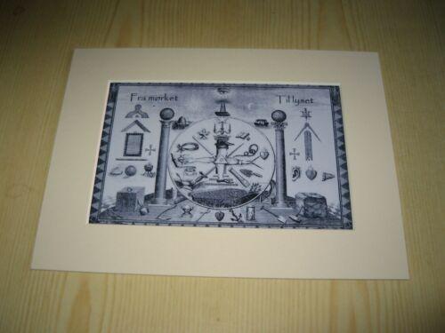 Masonic Freemasonry mounted photograph Freemason