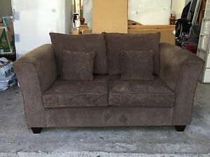 2 seater and 3 seater brown sofas Forestville Warringah Area Preview