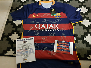 Barcelona signed jersey with coa unframed Meadow Heights Hume Area Preview