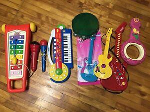 Bac d'instruments de musique