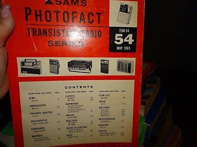 Sams Photofact- Transistor Radio Series  TSM-54