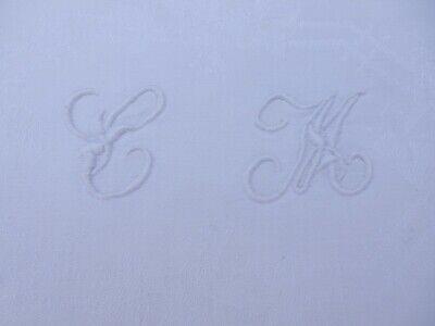 1900 ERA BELLE EPOCH  MONOGRAMMED TOWEL INITIAL CM  VINTAGE LINEN HAND TOWEL h