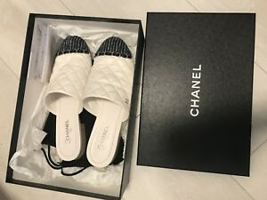 Authentic Chanel mules 38