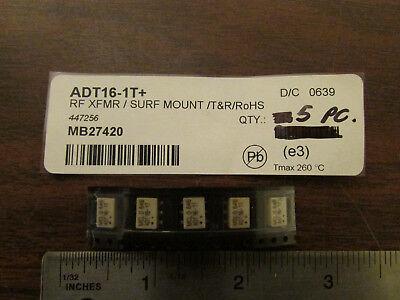 Mcl Mini-circuits Adt16-1t Rf Transformer Smt Rohs 5 Pieces New