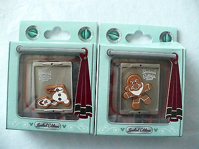 Disney LE Holiday Pins Grumpy + Olaf as Gingerbread Cookies with Free Shipping