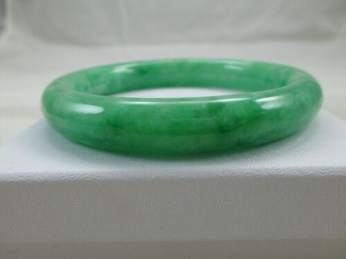 """Green Jade Vintage Bangle Bracelet 8"""" 071TB"""