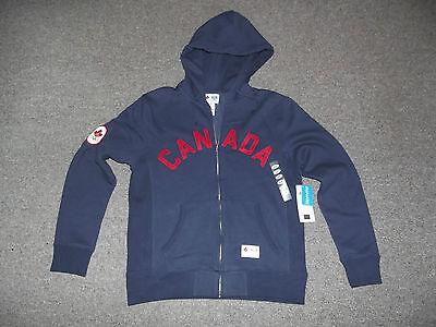 London 2012 Olympic Team Canada HBC Mens Small, Blue, CANADA Hoodie Full Zip NWT