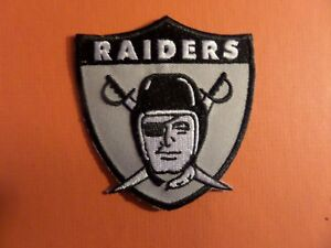 VINTAGE 1960S OAKLAND RAIDERS  Embroidered 3 x 3-1/4 Iron Or Sew On Patch
