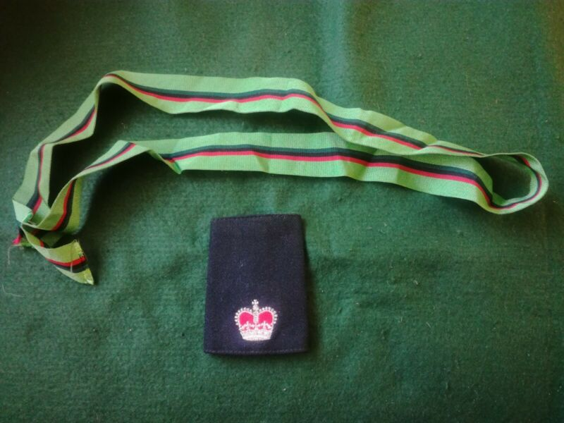 Old Royal Ulster Constabulary Rank Slide & Length Of Medal Ribbon.