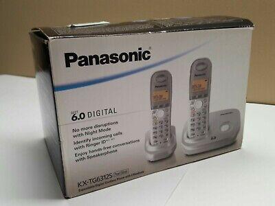 Panasonic Dect 6.0 Expandable Digital Cordless Phone Dual Handset System NEW