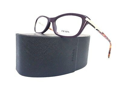 New PRADA Frames VPR 04P ROM-101 Violet Havana Cat Eye RX Design Eyeglasses (Prada Cat Eye Frames)