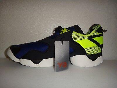 Y-3 by Yohji Yamamoto KOHNA Men's Flat Sneakers Mauve Neoprene Leather Size XL