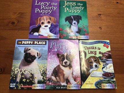 5 different kids children's puppy chapter story books