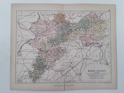 Kings County,  1882 Antique County Map, Bartholomew, Atlas, Philip