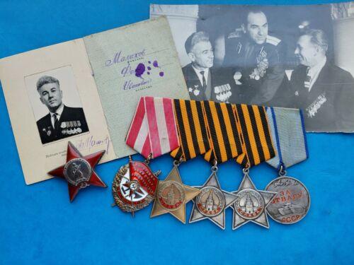soviet  USSR order Red Banner, order of Glory, order Red Star ,medal for Bravery