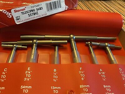 Starrett S579hz Telescoping Gage Set New