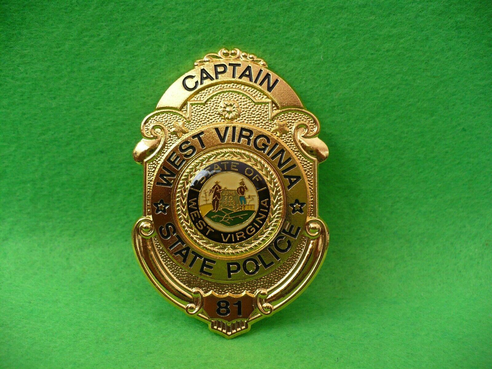Captain State Police 81 West Virginia Göde Police Badge Polizeiabzeichen