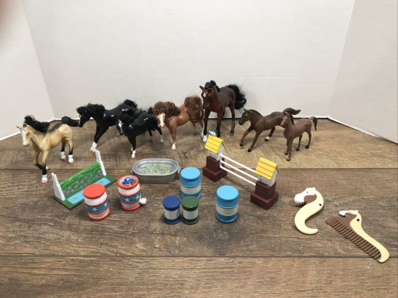 Grand Champions Lot with Accessories GC Horses Ertl Preowned
