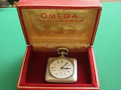 1968 OLYMPIC GAMES ? OMEGA GRAND PRIX PARIS 1900 SQUARE POCKET WATCH SILVER BOX