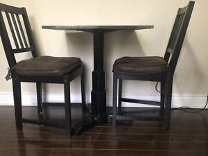 Nice Table & 2 Chairs for sale