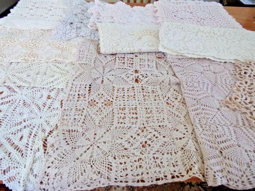 Vintage Crochet Lot of 15 Runners~Scarves~Ecru/Ivory/Antique White~ #10