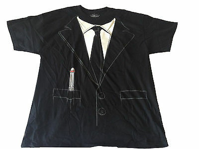 Universal Studios Men In Black Costume Suit Top Movie Men's T Shirt