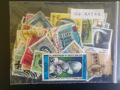 500 Different Qatar Stamp Collection