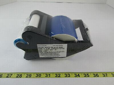New Brady Label Maker Supply Tape Cartridge White On Blue B580 4 X 90