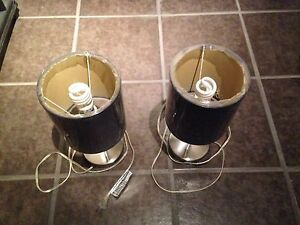 2 Small Lamps with CFL bulbs